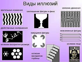 виды иллюзий