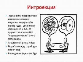 Интроекция в психологии