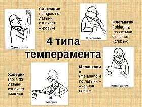4 типа темперамента